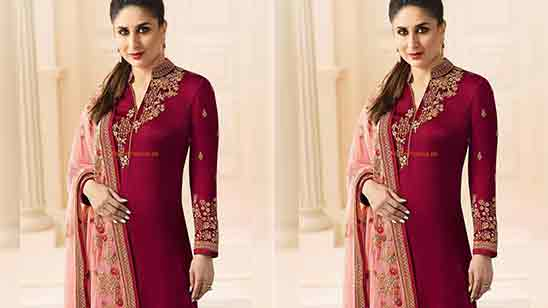 Patiala Suit Neck Design Back and Front
