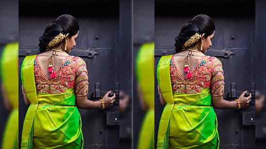 Pattu Saree Blouse Neck Designs