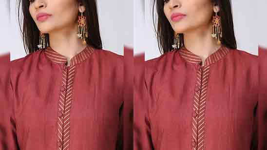 Piping Front Neck Design of SuitsPiping Front Neck Design of Suits
