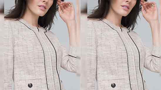 Piping Front Neck Design of Suits