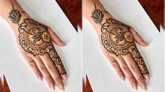 Rose Flower Mehndi Design