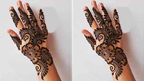 Rose Flower Mehndi Design Back Hand
