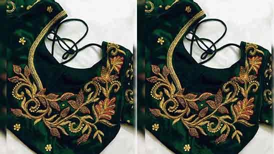 Simple Aari Work Blouse Designs Images
