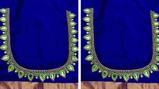 Simple Aari Work Blouse Designs With Price