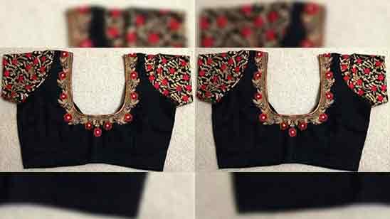 Simple Aari Work Blouse Designs for Beginners