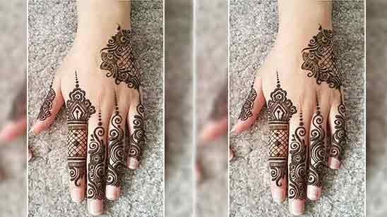Simple And Easy Full Hand Mehndi Design