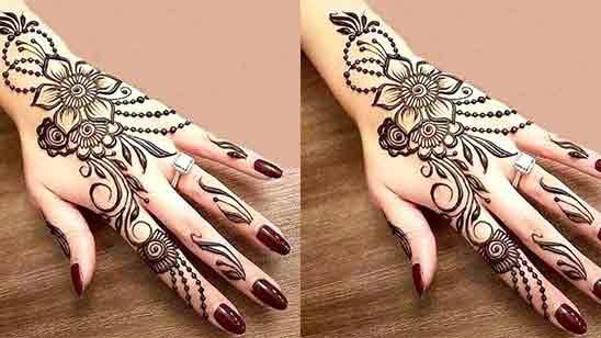 Simple Arabic Flower Mehndi Designs