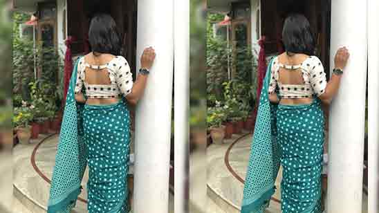 Simple Back Design Of Blouse