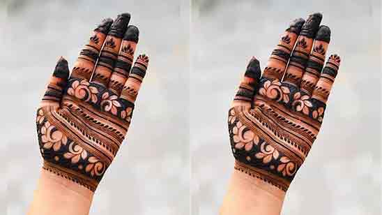 Simple Back Hand Mehandi Designs
