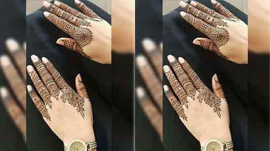 Simple Back Hand Mehndi Designs