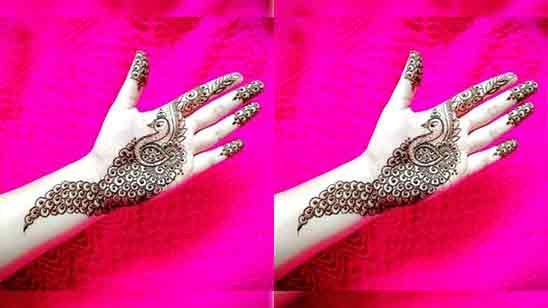 Simple Back Hand Mehndi