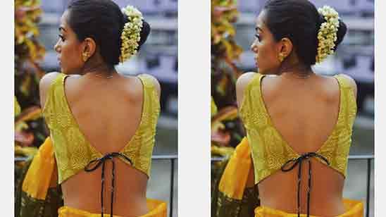 Simple Back Side Blouse Design