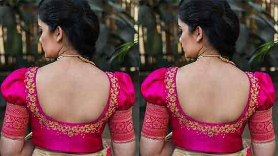 Simple Blouse Designs 2020 For Silk Sarees