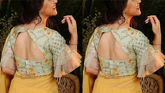 Simple Blouse Designs Back Side