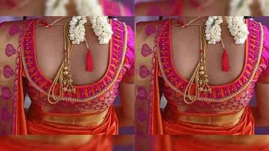 Simple Blouse Designs For Silk Saree