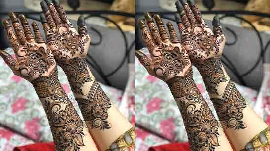 Simple Bridal Mehndi Designs For Full Hands