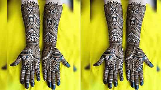 Simple Bridal Mehndi Designs For Hands