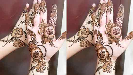 Simple Flower Mehndi Designs For Front Hands