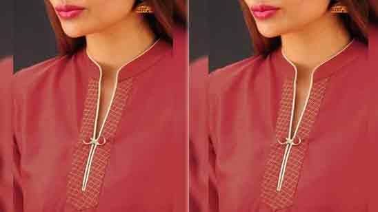Simple Front Neck Design of Suits