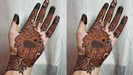 Simple Full Back Hand Mehndi Designs