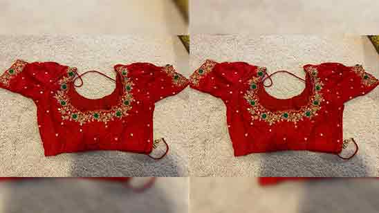 Simple Maggam Work Blouse Designs Images