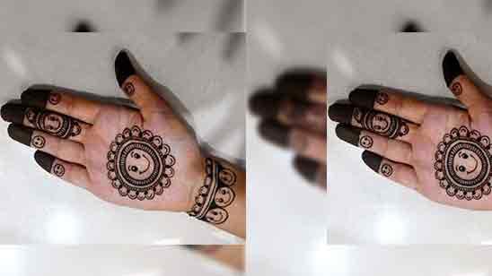 Simple One Finger Mehndi Design