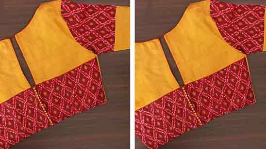 Simple Patch Work Blouse Designs