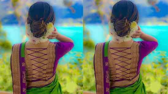 Simple Silk Saree Blouse Neck Designs