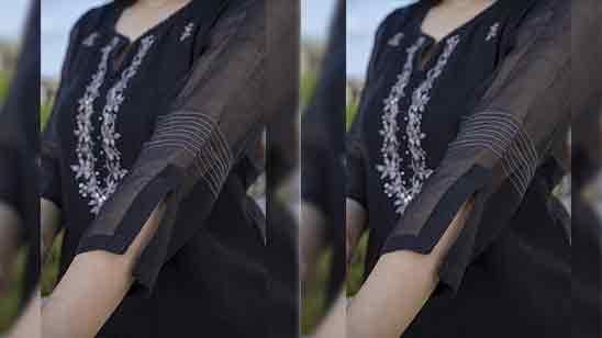 Simple Sleeveless Kurti Design