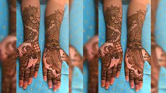 Simple Stylish Arabic Mehndi Design