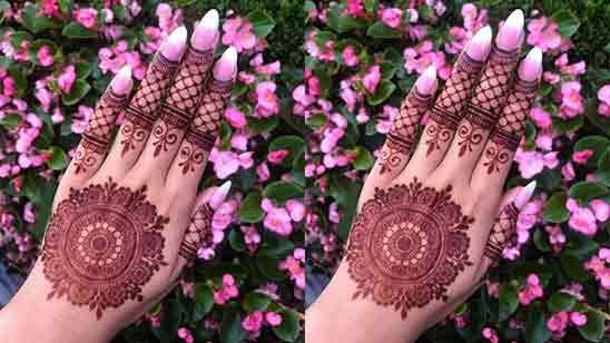 Simple Stylish Back Hand Mehndi Designs
