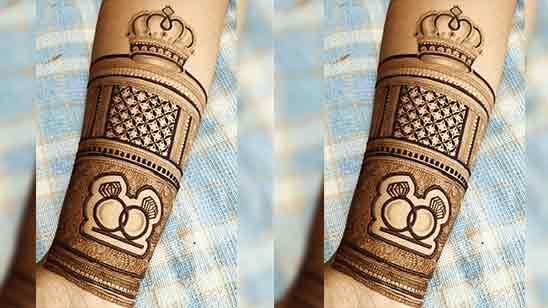 Simple Stylish Full Hand Mehndi Design