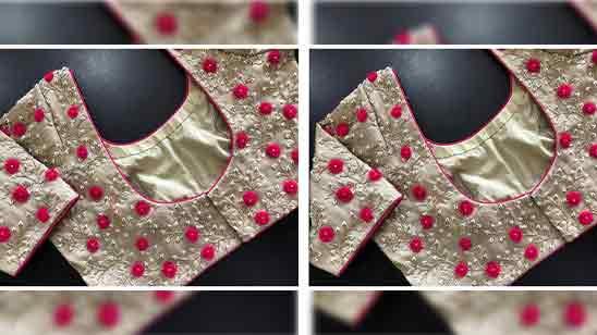 Simple Thread Work Blouse Designs