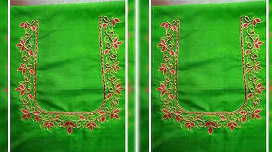 Simple Thread Work Designs On Blouses