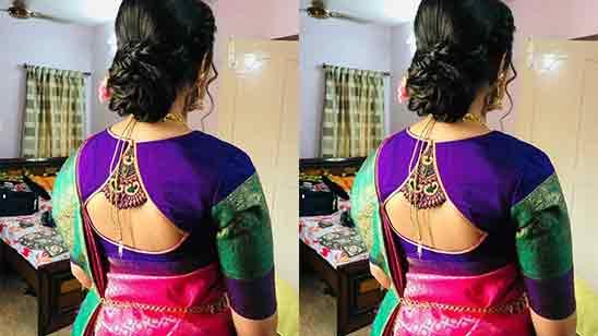 Simple Wedding Blouse Designs