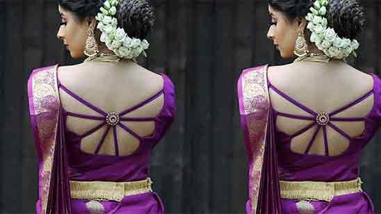 Simple Wedding Saree Blouse Designs