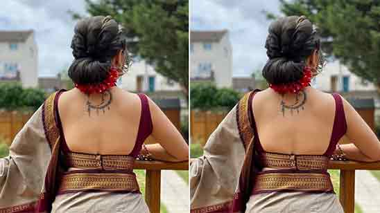 South Indian Blouse Back Neck Designs With Borders