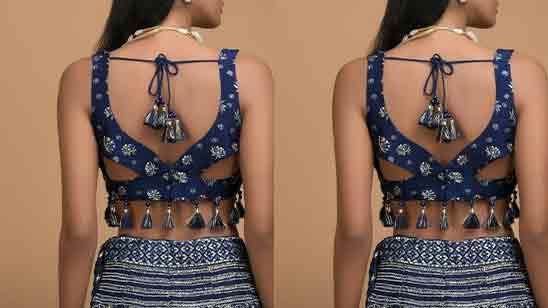 Stylish Back Side Blouse Design