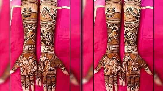 Stylish Full Hand Arabic Mehndi Design