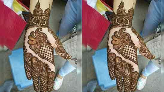 Stylish Full Hand Mehndi Design