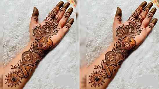 Stylish Mehndi Design Front Hand
