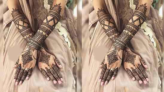 Stylish Modern Back Hand Mehndi Design