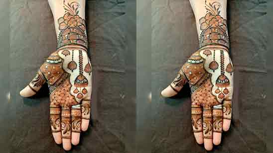 Stylish Modern Full Hand Mehndi Design