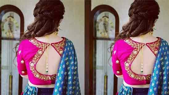 Traditional Blouse Back Design