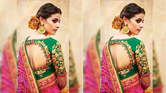 Traditional Blouse Designs Back Side