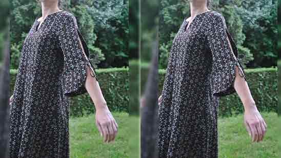 Umbrella Sleeves Design For Kurti