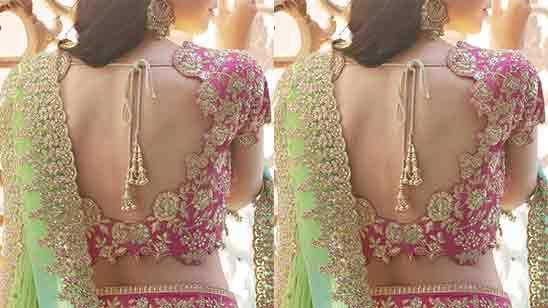 Wedding Blouse Neck Designs