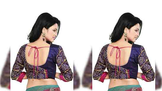 Wedding Boat Neck Blouse Designs For Silk Sarees