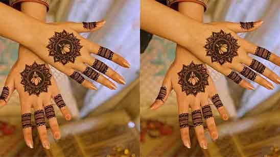 Wedding Finger Mehndi Design