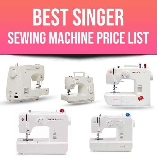Singer Sewing Machine Price List
